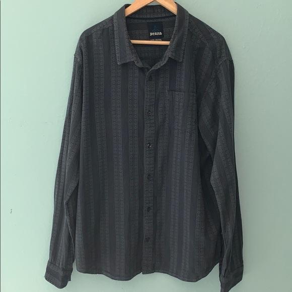 Prana Other - Prana XL Breathe Gray & Black Long Sleeve Shirt